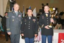 Vítězné družstvo zahraniční armády ve střelbě zeSa vz.58 + Pi CZ 75 • U.S.Army Heidelberg • Pohár – Náčelník Generálního štábu AČR